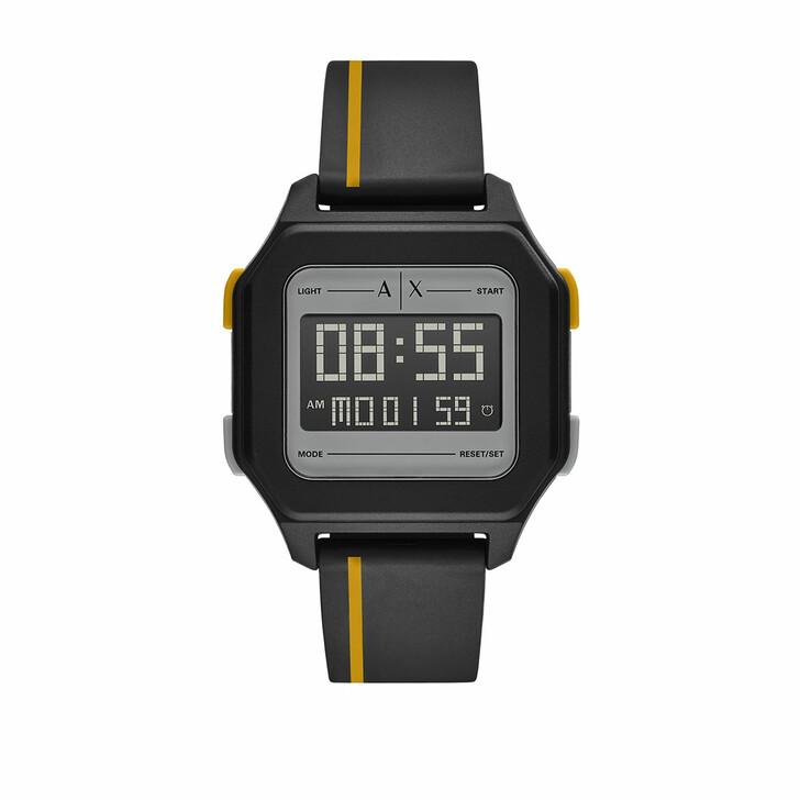 Uhr, Armani Exchange, Men Digital Polyurethane Watch Black