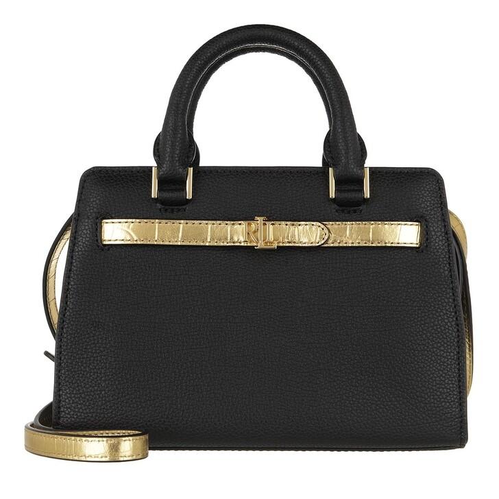bags, Lauren Ralph Lauren, Fenwick 23 Crossbody Medium Black/Antique Gold