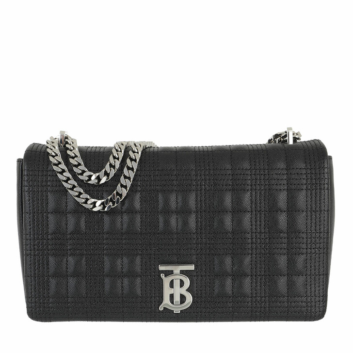 Handtasche, Burberry, Lola Medium Quilted Crossbody Bag On Chain Leather Black