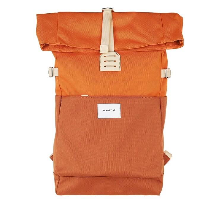 Reisetasche, Sandqvist, Ilon Backpacks Leather Multi Burnt Orange
