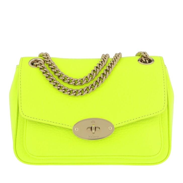 bags, Mulberry, Darley Mini Shoulder Bag Neon Yellow