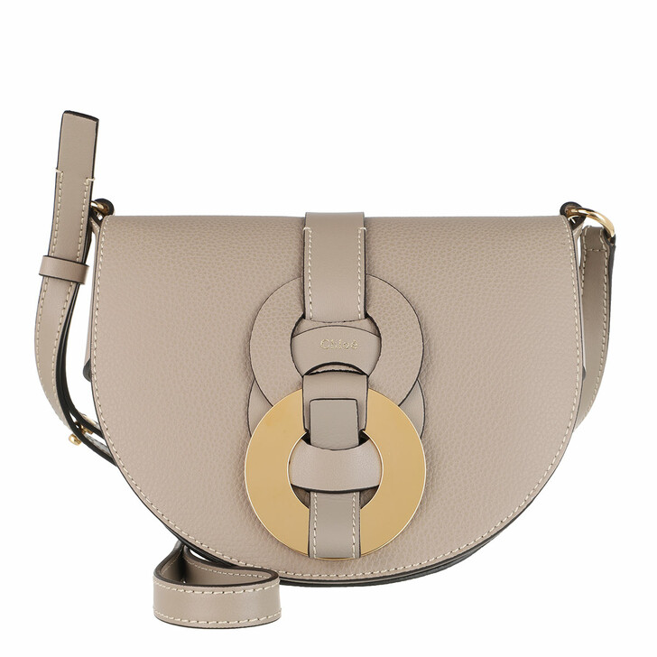bags, Chloé, Small Darryl Crossbody Bag Calfskin Motty Grey