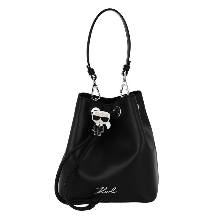 Handtasche, Karl Lagerfeld, K/Ikonik Bucket Bag  Black