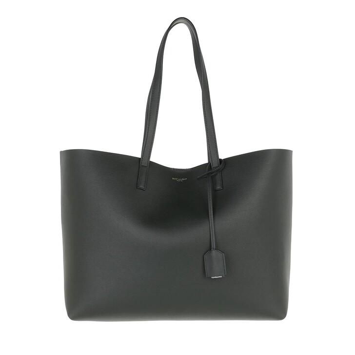 Handtasche, Saint Laurent, East West Medium Tote Leather Dark Green