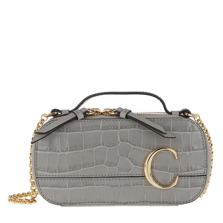 Handtasche, Chloé, Mini C Crossbody Bag Stormy Grey