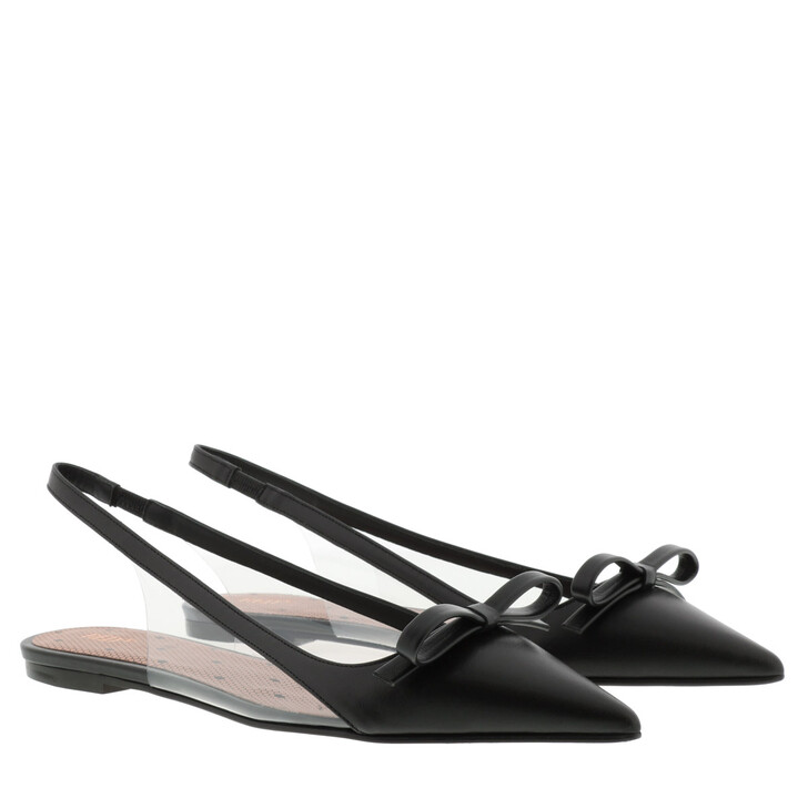 shoes, Red Valentino, Ballerina Black/Transparent