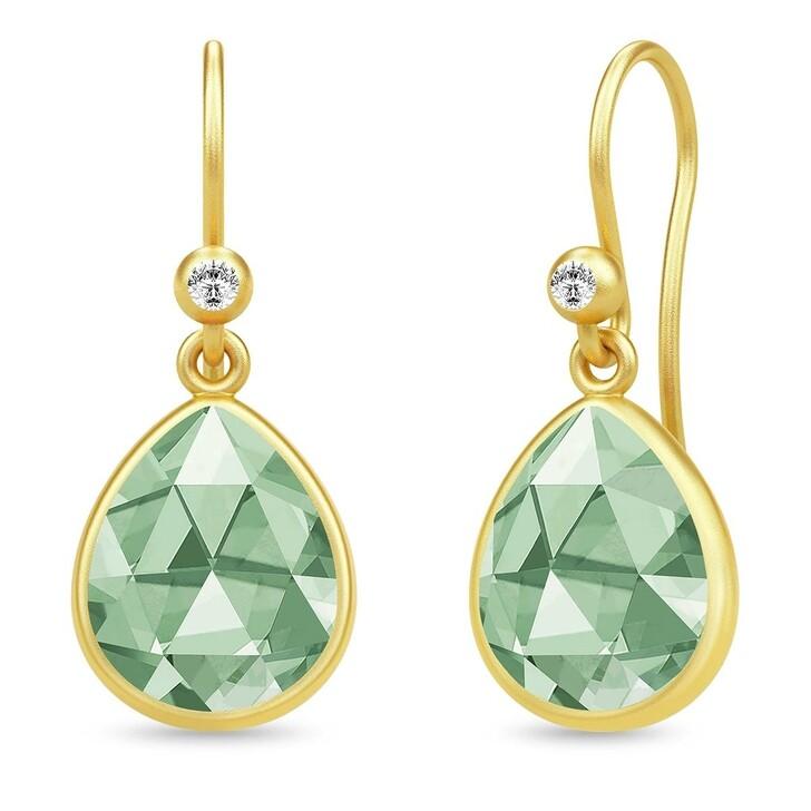 earrings, Julie Sandlau, Aura Earrings Green Amethyst