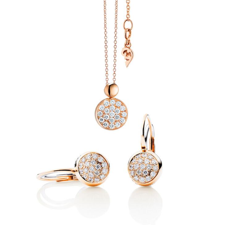 Ohrring, Capolavoro, Dolcini Set with Diamonds Rose Gold