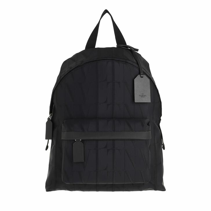 bags, Valentino Garavani, VLTN Times Backpack Nylon-Jacquard Black