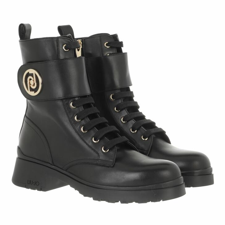 shoes, LIU JO, New Nancy 37  Bootie Calf  Black
