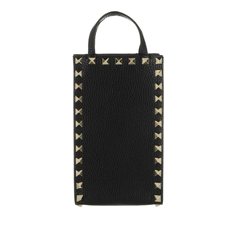 Smartphone/Tablet case (Case), Valentino Garavani, Rockstud Phone Case Leather Black