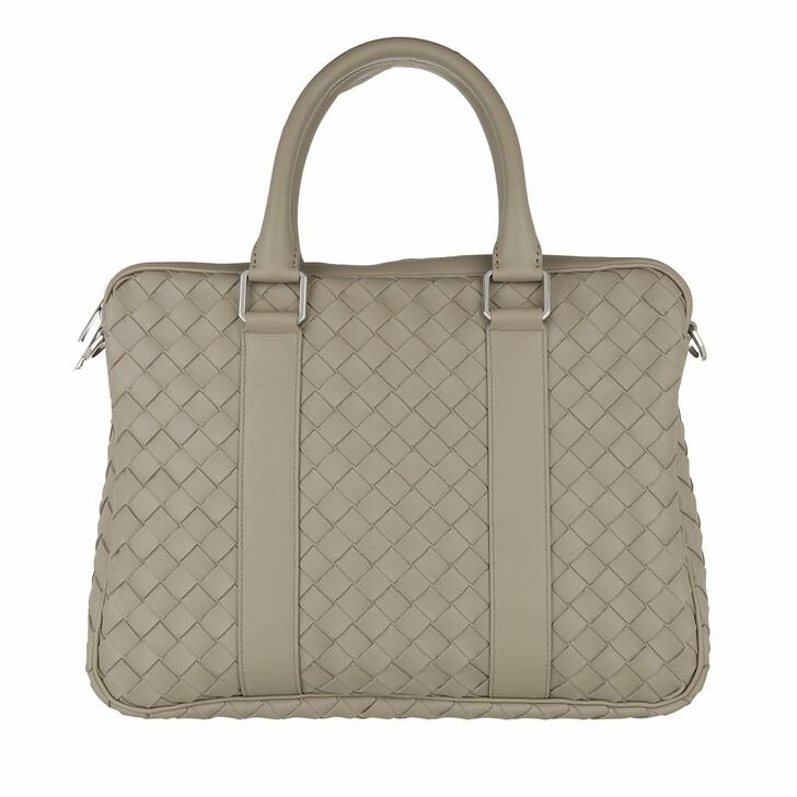 Reisetasche, Bottega Veneta, Briefcase Woven Leather Taupe