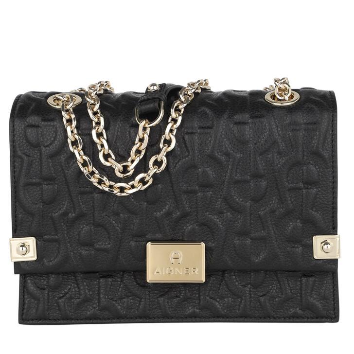 Handtasche, AIGNER, Crossbody Bag Dea Black
