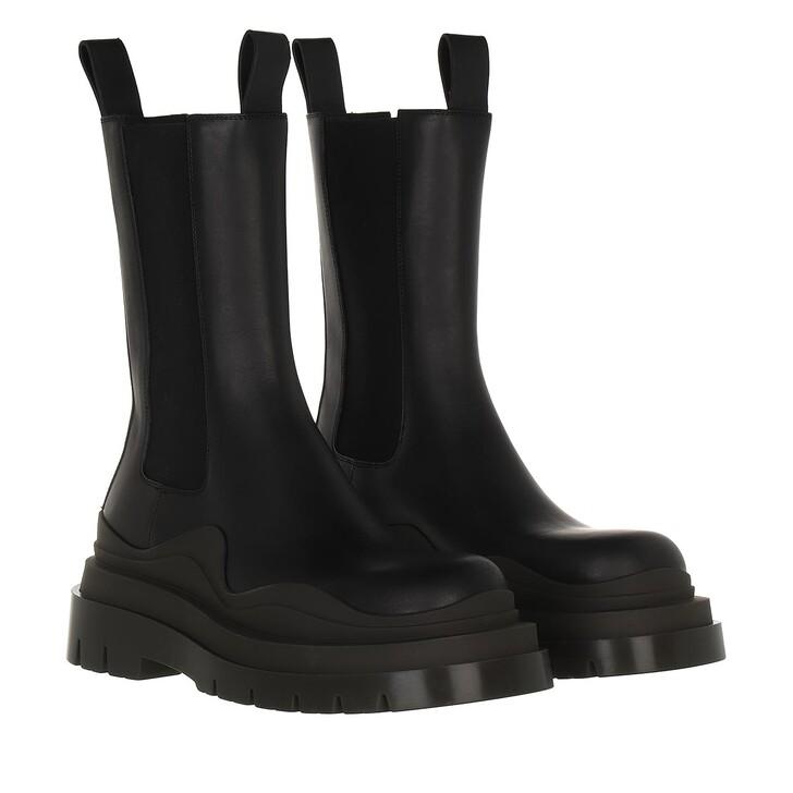 shoes, Bottega Veneta, Tire Boot Leather Black Camping