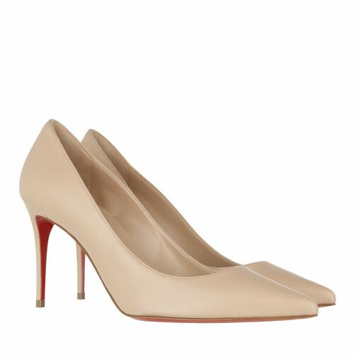 christian louboutin -  Pumps & High Heels - Kate 85 Pumps Nappa - in beige - für Damen