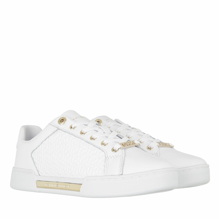 Schuh, Tommy Hilfiger, TH Monogram Elevated Sneakers White