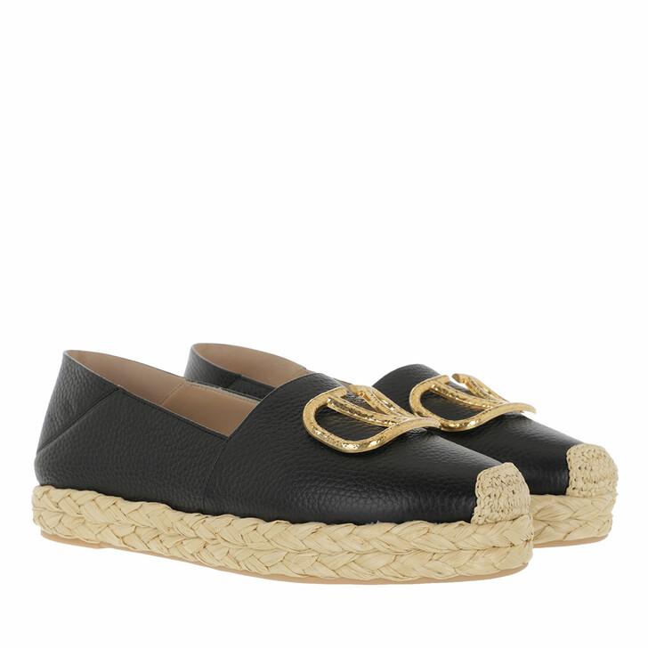 Schuh, Valentino Garavani, V-Logo Espadrille Black/Natural