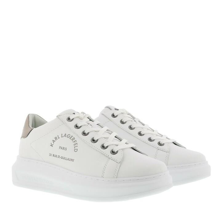 shoes, Karl Lagerfeld, Kapri Maison Karl Lace Sneaker White Silver