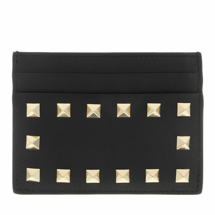 wallets, Valentino Garavani, Card Holder Leather Black