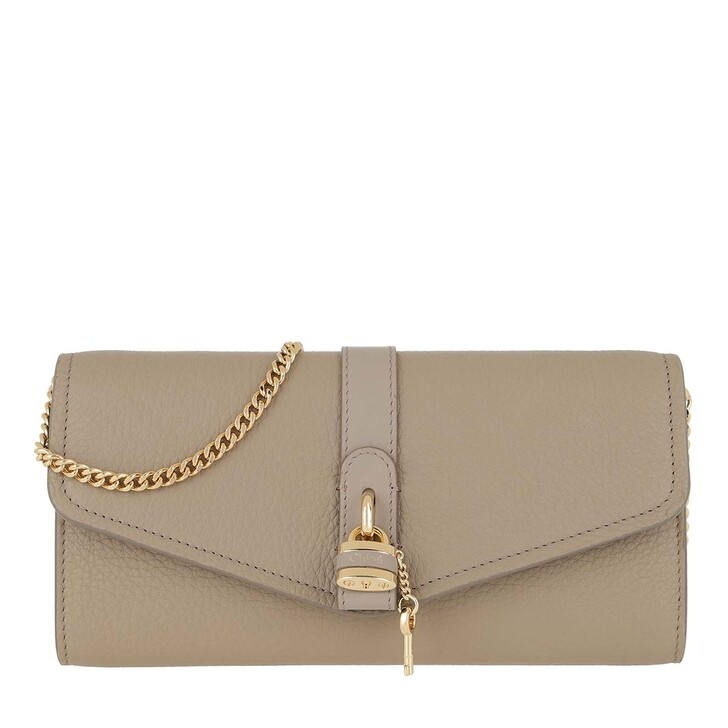 Handtasche, Chloé, Aby Wallet On Chain Motty Grey