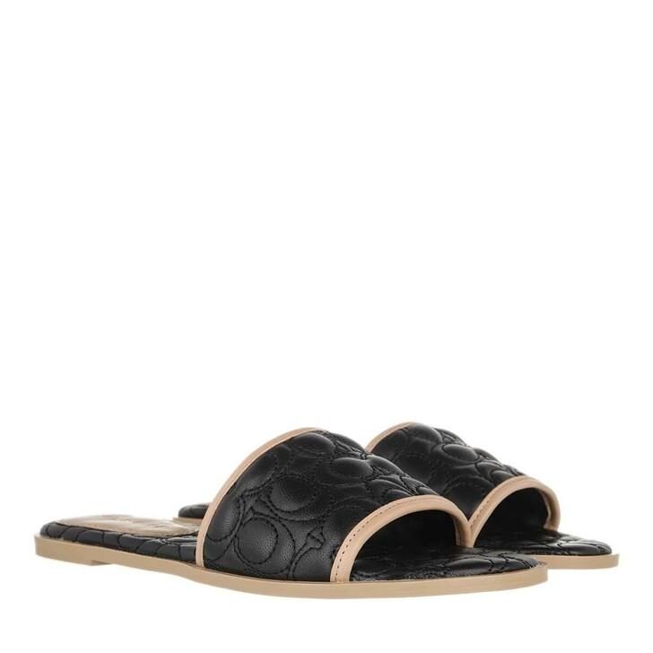 shoes, Coach, Olivea Leather Sandal Black