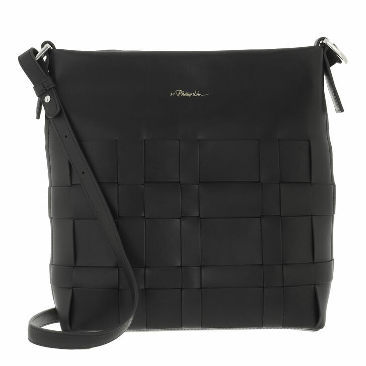 bags, 3.1 Phillip Lim, Odita Slim Shoulder Bag Black