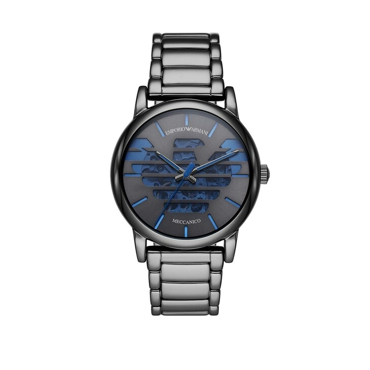 Uhr, Emporio Armani, Three-Hand Gunmetal Stainless Steel Watch Gunmetal