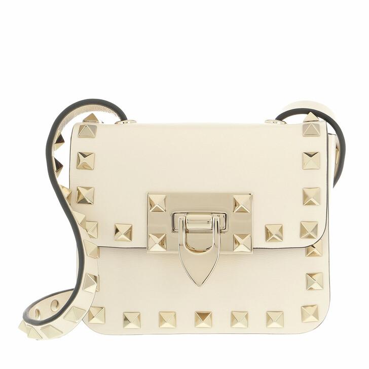 bags, Valentino Garavani, Rockstud Mini Bag Light Ivory