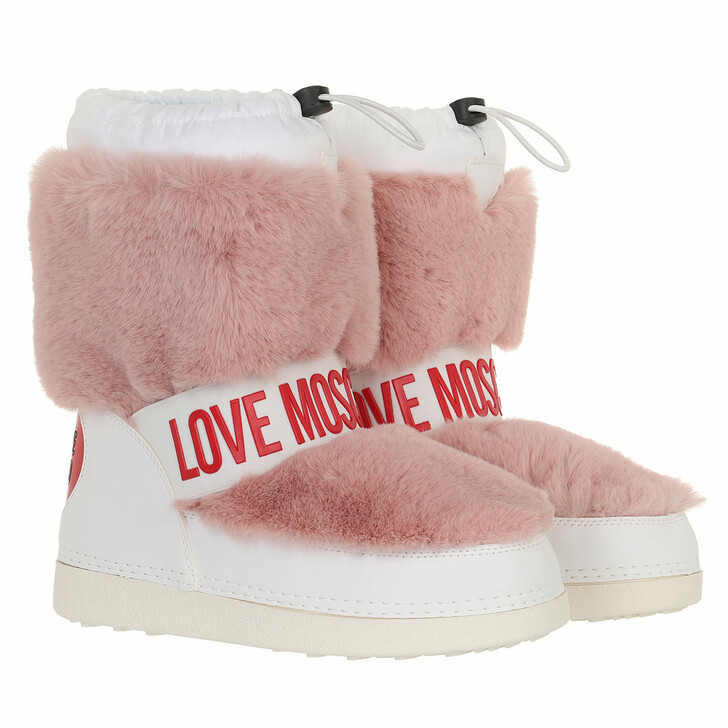 shoes, Love Moschino, St Ttod Skiboot20 Soft Pl Bianco