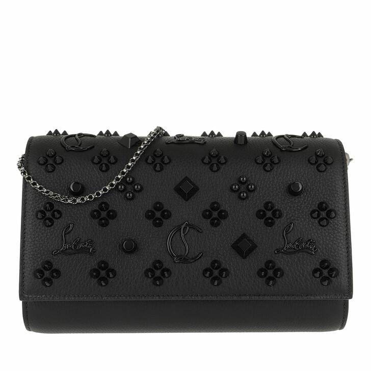 bags, Christian Louboutin, Paloma Clutch Leather Black