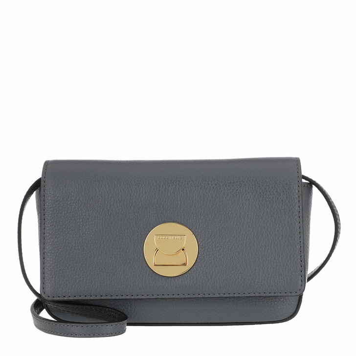 Handtasche, Coccinelle, Mini Bag Bottalatino Leather Ash Grey/Noir