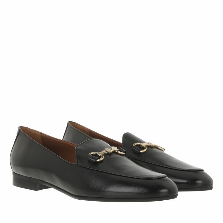 shoes, Isabel Bernard, Vendôme Fleur calfskin leather loafers Black