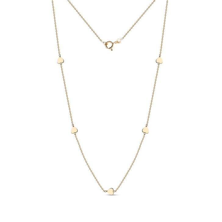 Kette, DIAMADA, 18KT Heart Necklace Yellow Gold