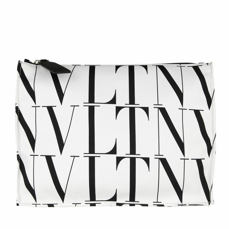bags, Valentino Garavani, Men VLTN Briefcase White/Black