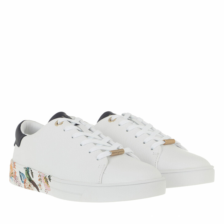 Schuh, Ted Baker, Azelea Decadence Printed Cupsole Trainer White