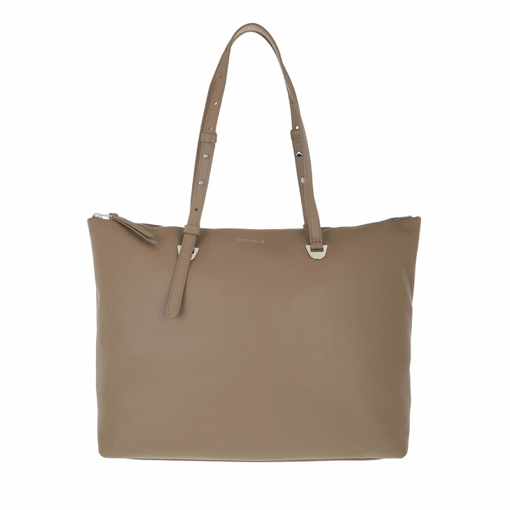 bags, Coccinelle, Lea Handbag Grained Leather  Taupe