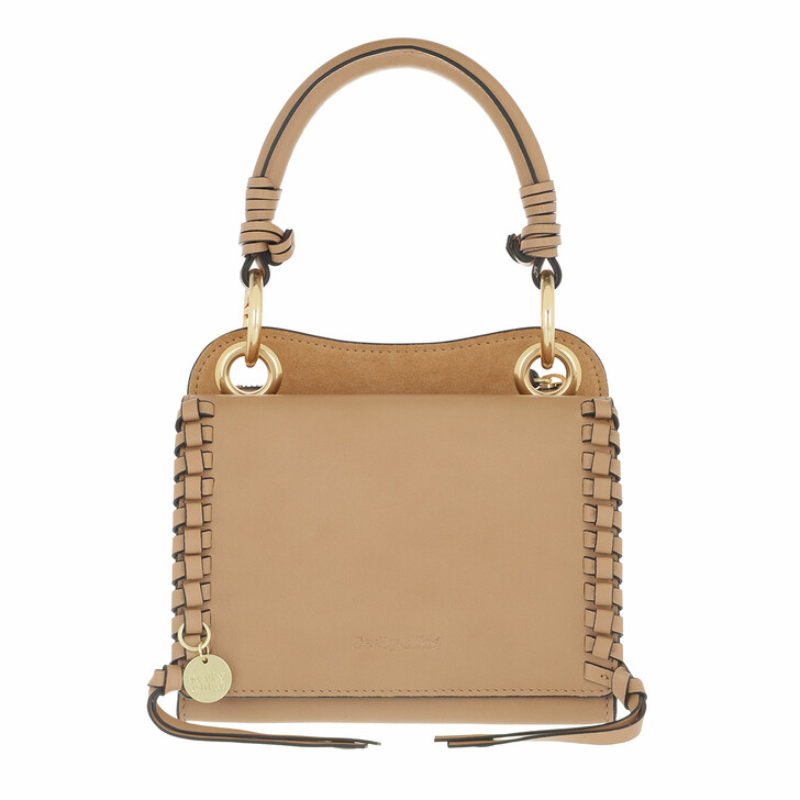bags, See By Chloé, Crossbody Cowhide Leather Suede Coconut Brown