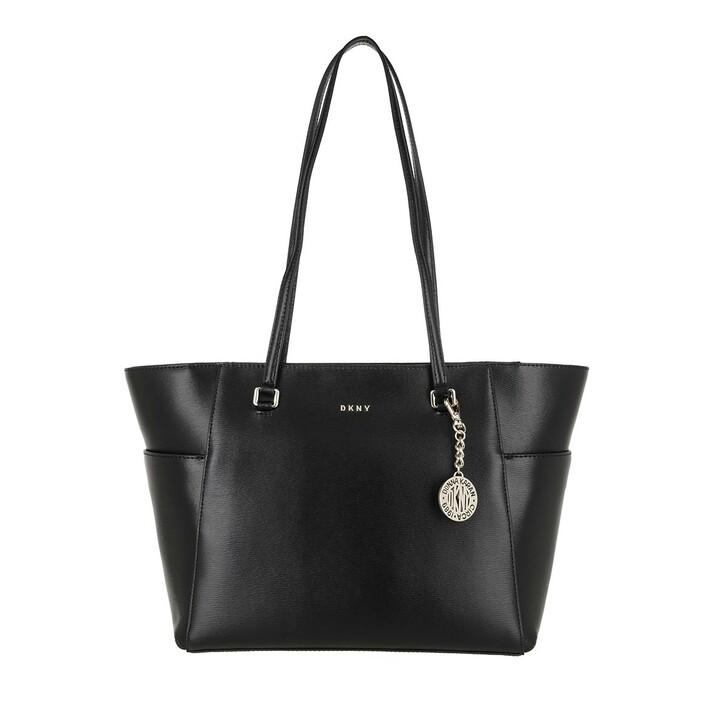 bags, DKNY, Bryant Pocket Tote Black Gold