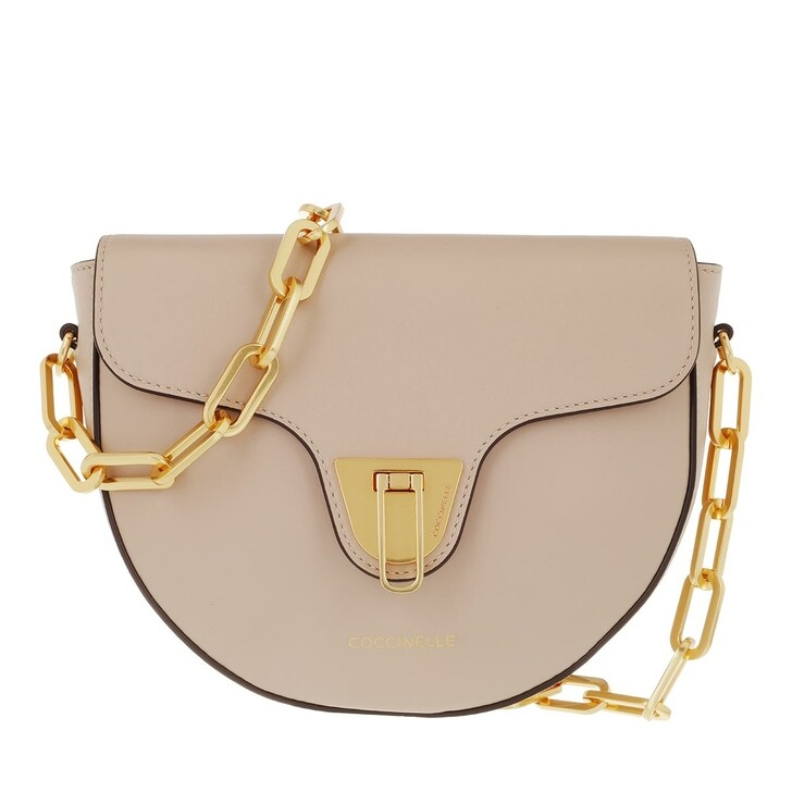 bags, Coccinelle, Beat Smooth Chain Crossbody Bag Powder Pink