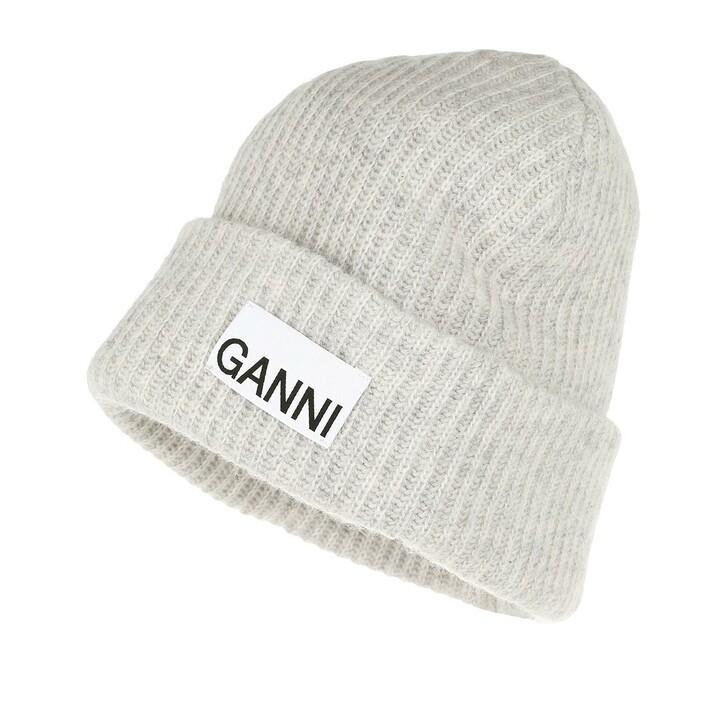 scarves, GANNI, Recycled Wool Hat Paloma Melange