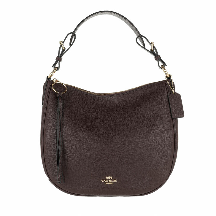 Handtasche, Coach, Pebble Sutton Hobo Bag Leather Red