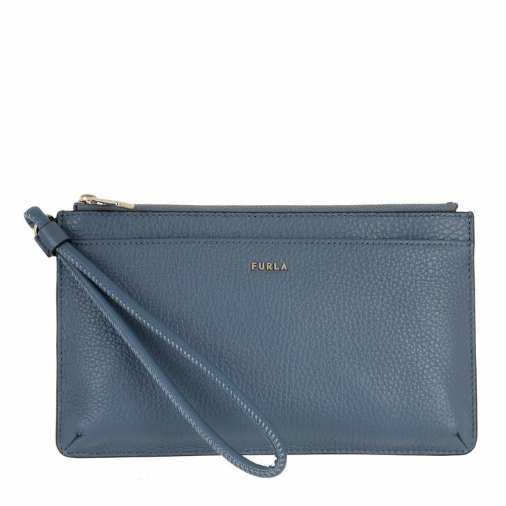 bags, Furla, Furla Babylon S Envelope Blu Denim