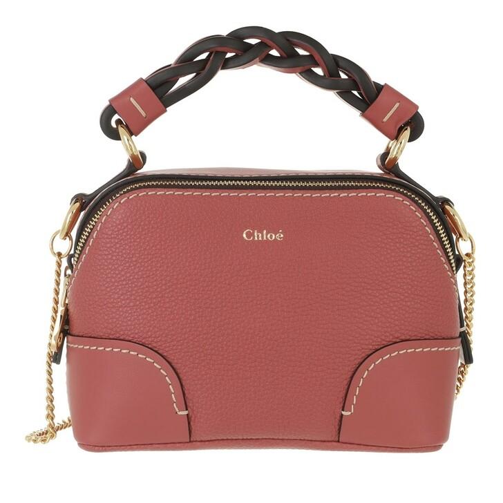 bags, Chloé, Mini Daria Chain Crossbody Bag Leather Faded Rose