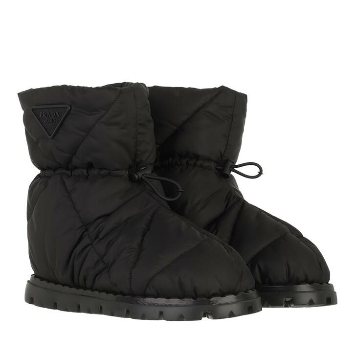 shoes, Prada, Boots Black