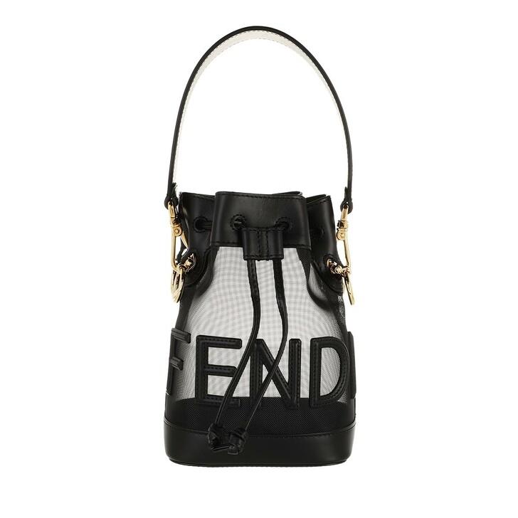 bags, Fendi, Logo Mon Tresor Bucket Bag Black