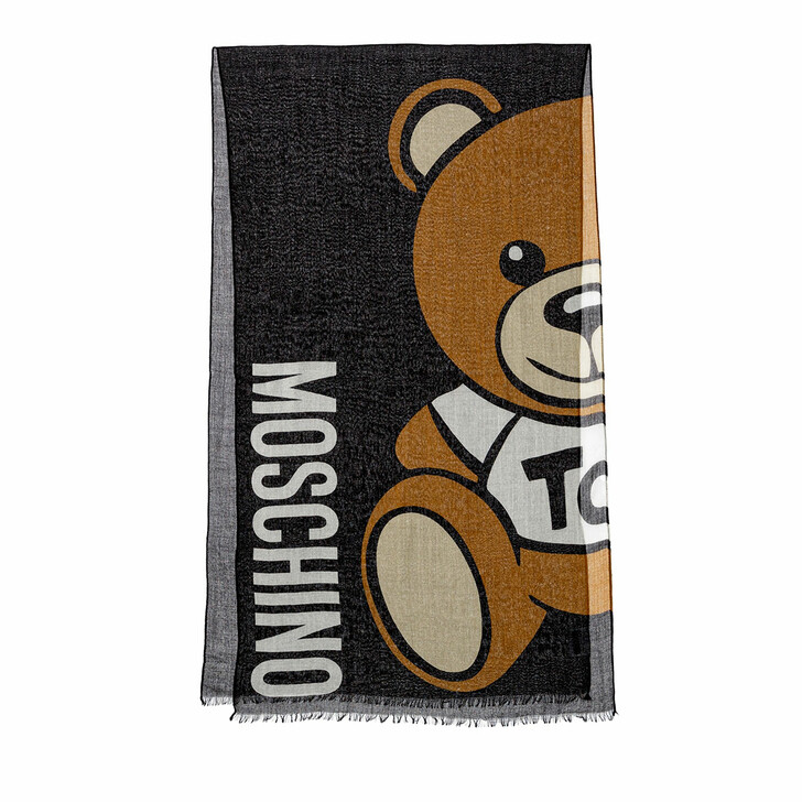scarves, Moschino, Scarf Black