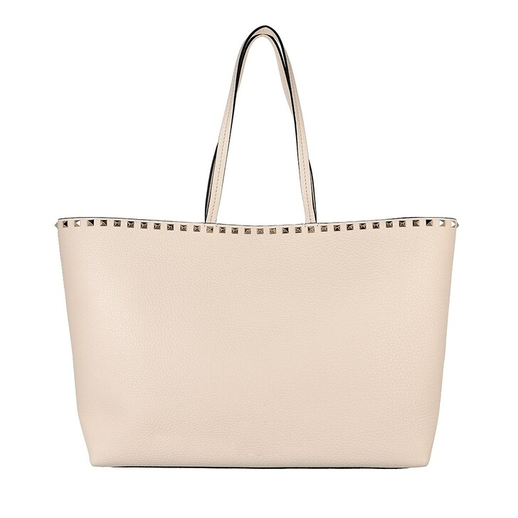 bags, Valentino Garavani, Rockstud Studded Shopping Bag Leather Light Ivory