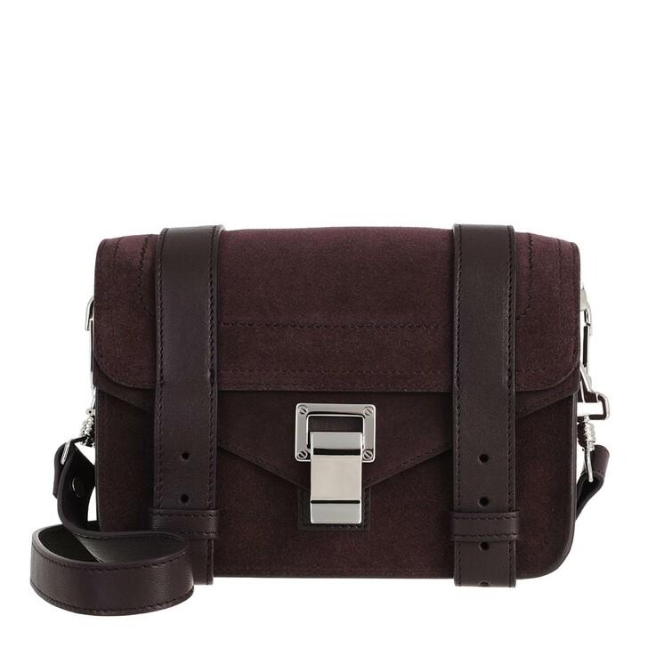 Handtasche, Proenza Schouler, PS1 Mini Suede Crossbody Dark Bordeaux