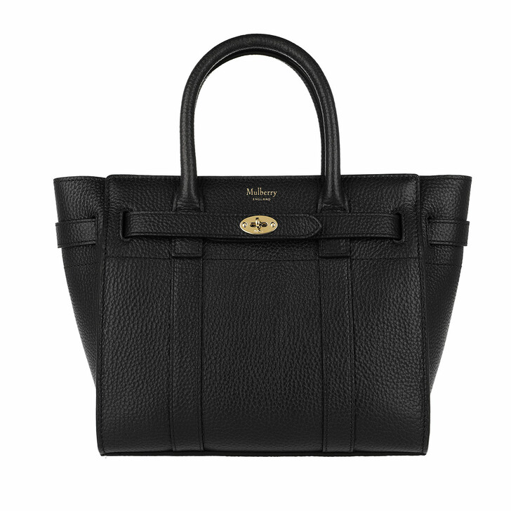Handtasche, Mulberry, Zipped Bayswater Tote Mini Black