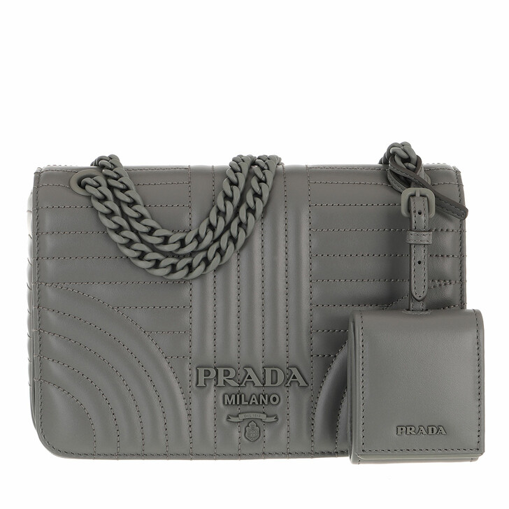 bags, Prada, Diagramme Crossbody Bag Marble Grey